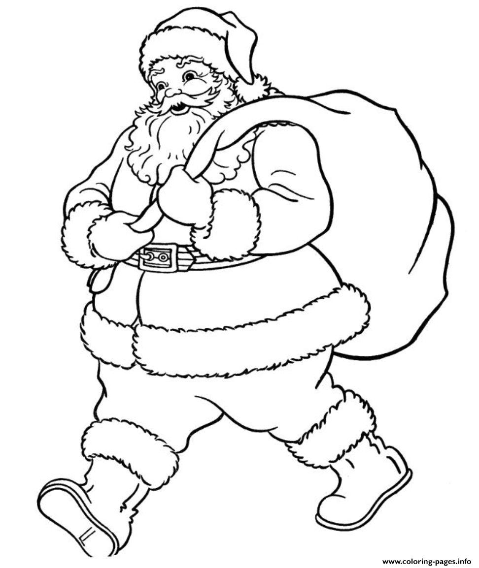 Santa Online Coloring Pages With Of Claus Wants To Go605b Printable