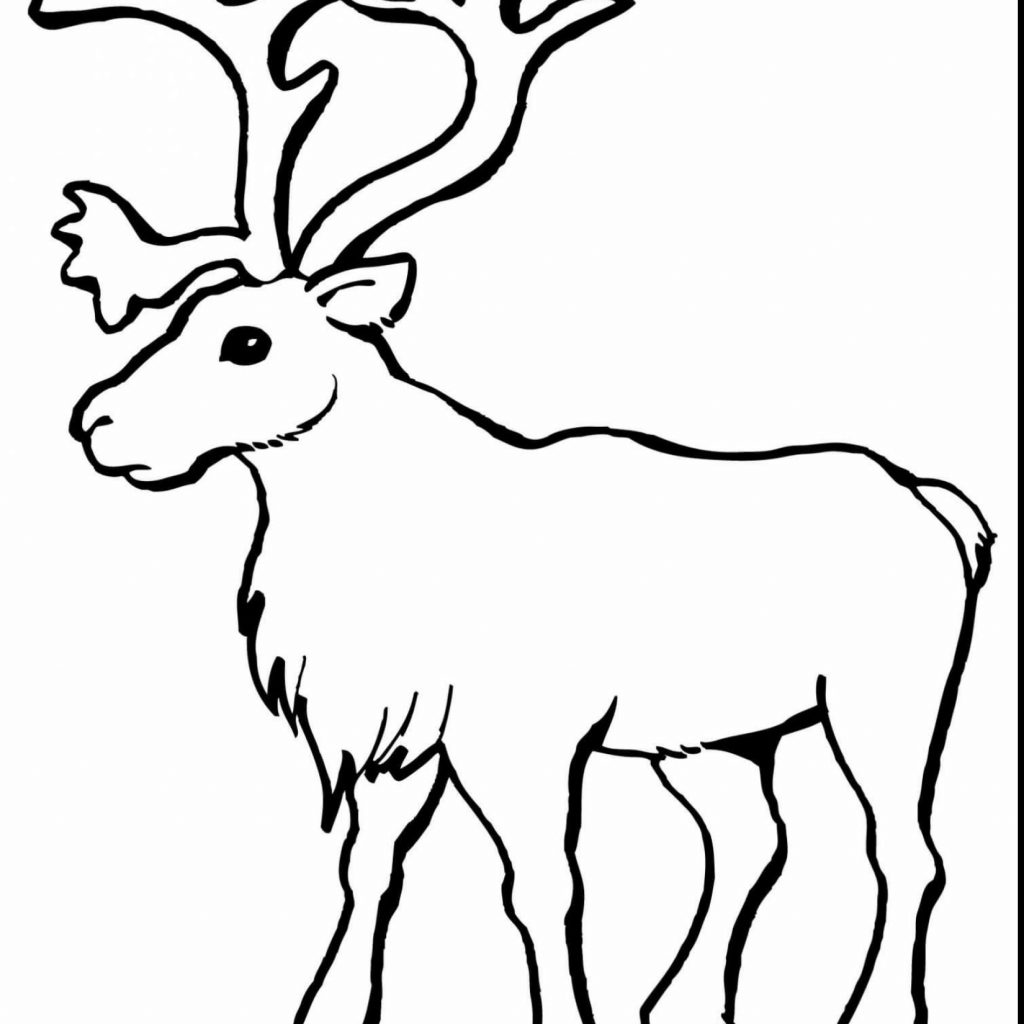 Santa Reindeer Coloring With Impressive Head And Sleigh