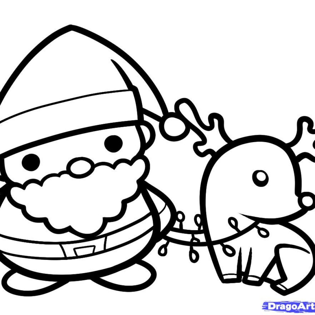 Santa Rudolph Coloring Pages With 28 Collection Of And Drawing High Quality Free