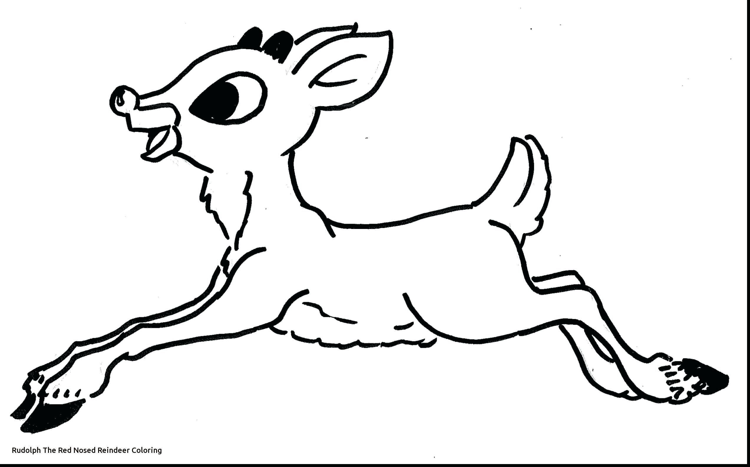 Santa Rudolph Coloring Pages With Reindeer Page And The Red Nosed Printable Best Of