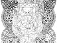 Santa S Christmas Coloring Book With Fancy On Balls Wreath In Zentangle Style Stock
