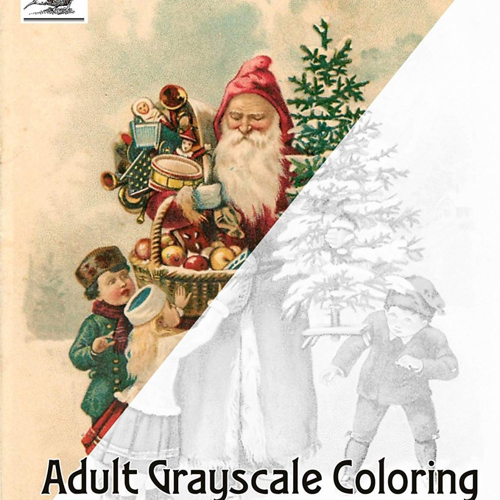 Santa S Christmas Grayscale Coloring Book With Amazon Com Adult 24 Pages 8 X11 A4