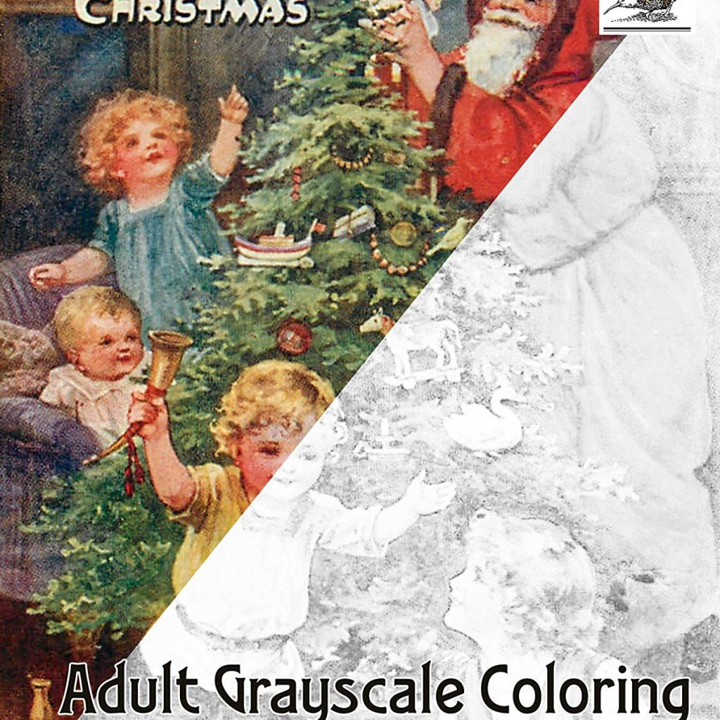 Santa S Christmas Grayscale Coloring Book With Amazon Com Adult 24 Pages 8 X11 A4 And Kids