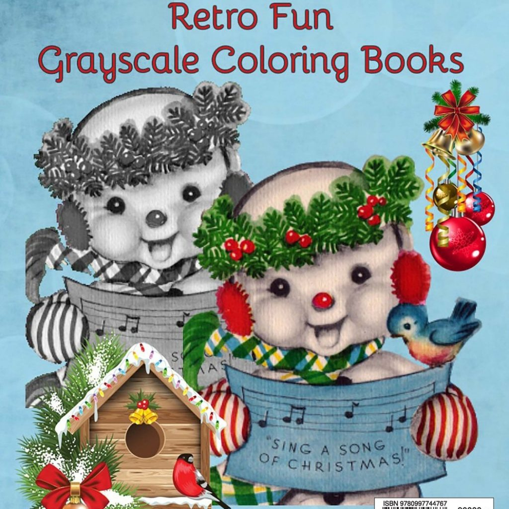 Santa S Christmas Grayscale Coloring Book With Amazon Com Holiday Retro Angels Santas Snowmen Adult
