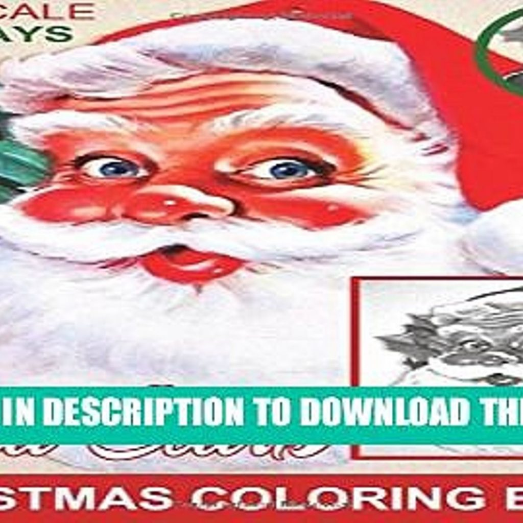 Santa S Christmas Grayscale Coloring Book With Read PDF Holidays Time To Color Claus Adult