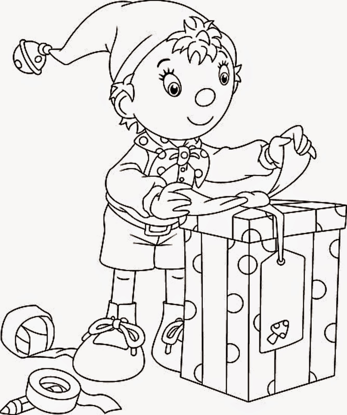 Santa S Elf Coloring Pages Printable With Christmas Free And