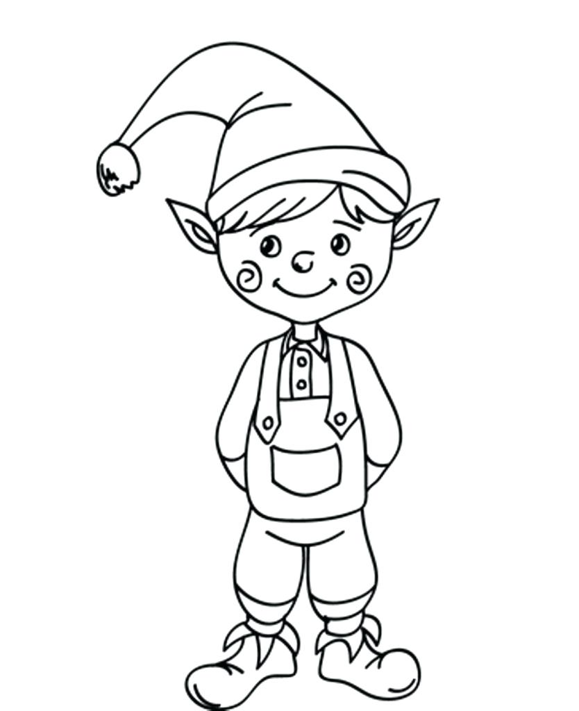 Santa S Elf Coloring Pages With Drawing At GetDrawings Com Free For Personal Use