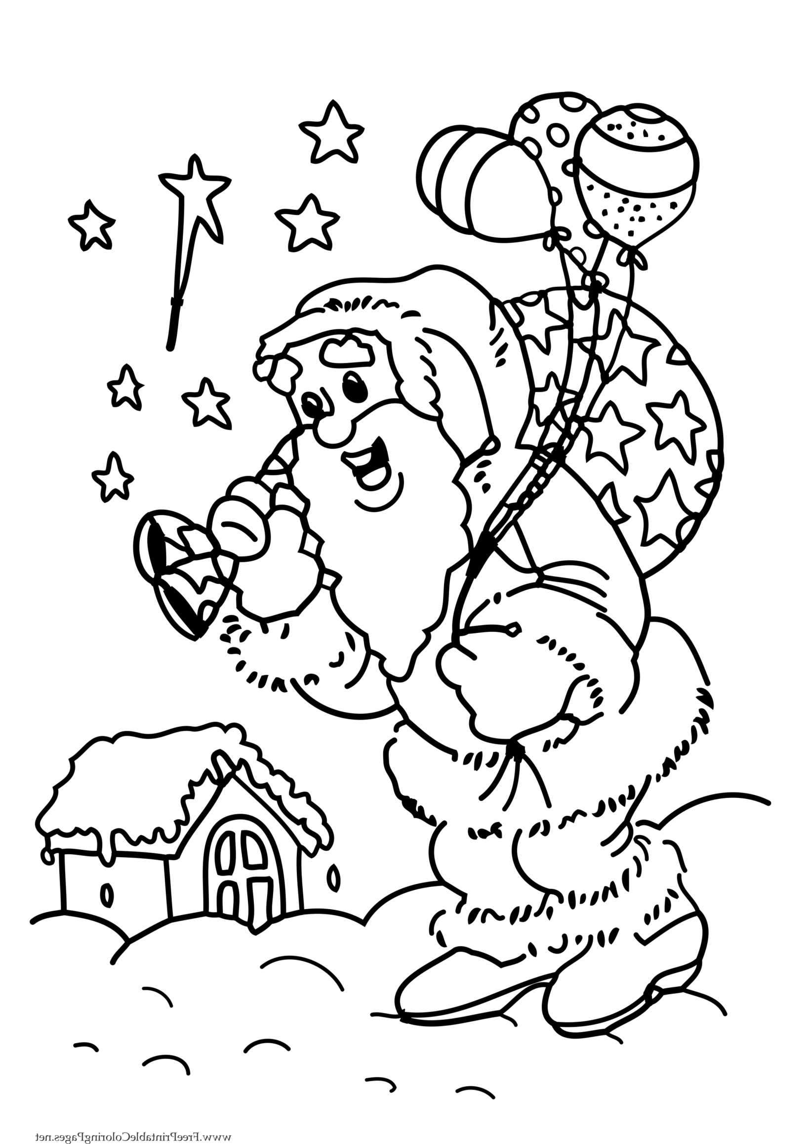 Santa S Elf Colouring Pages With Christmas Claus Coloring Tree