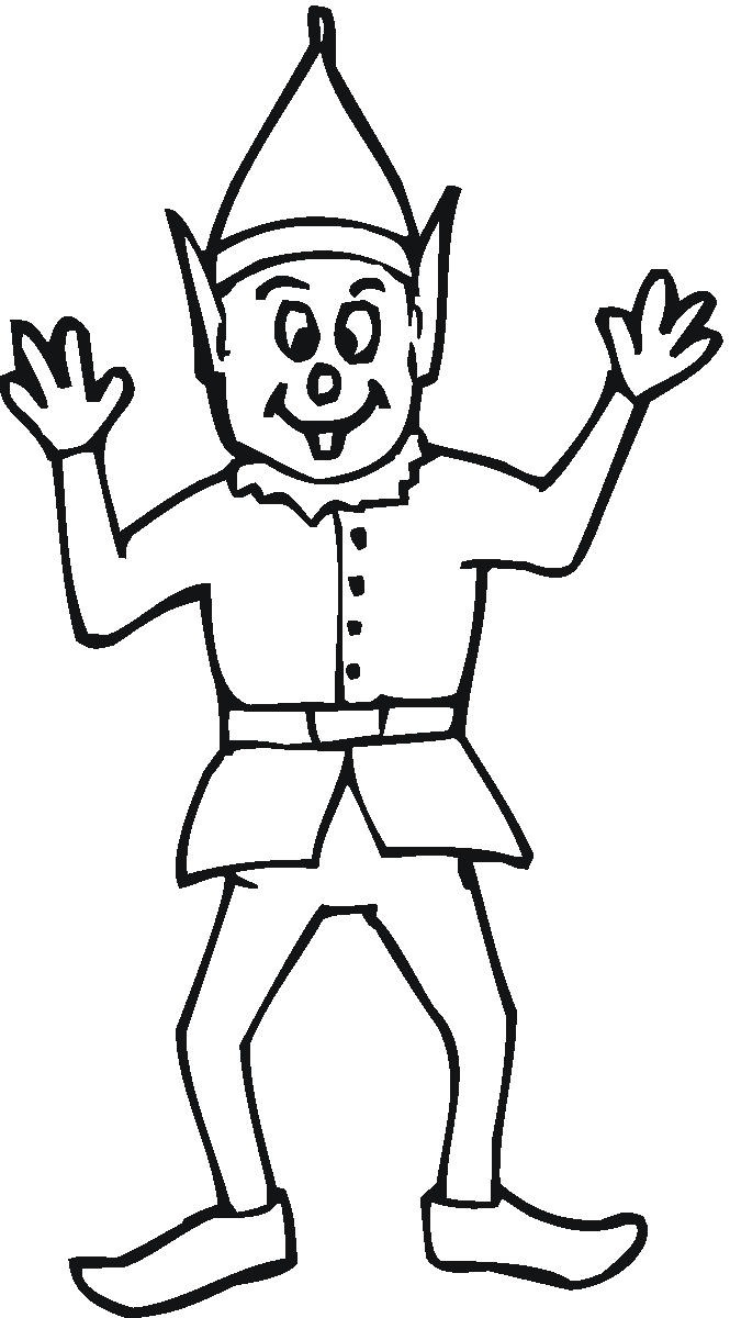 Santa S Elf Colouring Pages With Coloring Page From Santas Workshop Ws