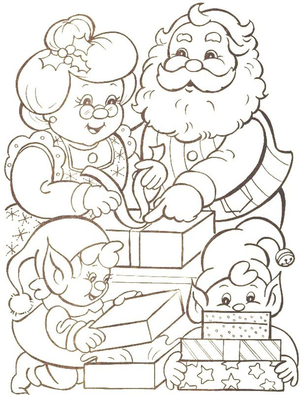 Santa S Elf Colouring Pages With Elves Coloring