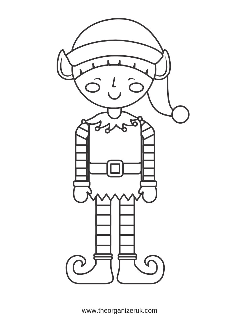 Santa S Elves Colouring Pages With 10 Of The Best Free Elf Organizer UK