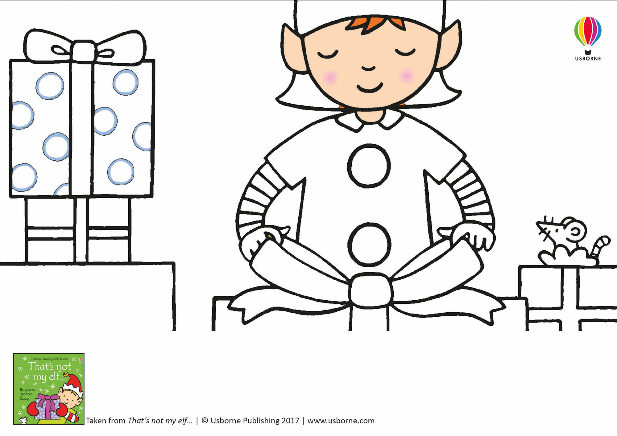 Santa S Elves Colouring Pages With Doodling And Sheets From Usborne Publishing