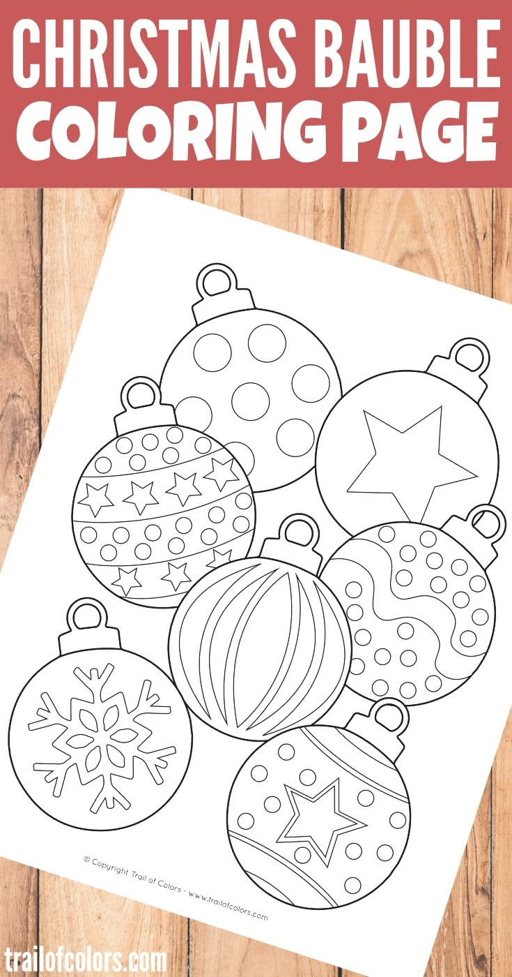 Santa S Grotto Colouring Pages With Christmas Bauble Coloring Page For Kids Learning Activities