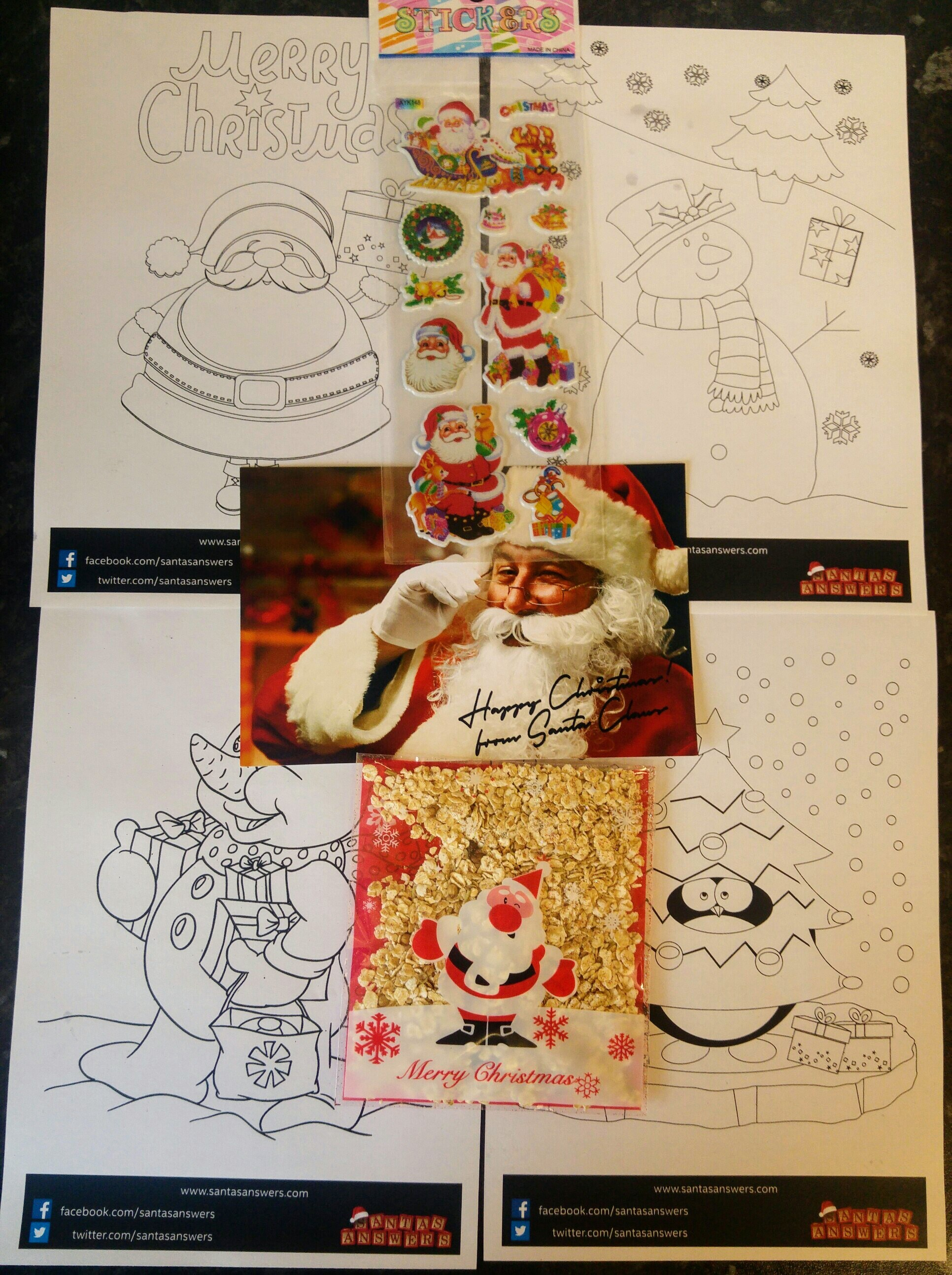 Santa S Grotto Colouring Pages With Magical Letters From Answers Relentlessly Purple