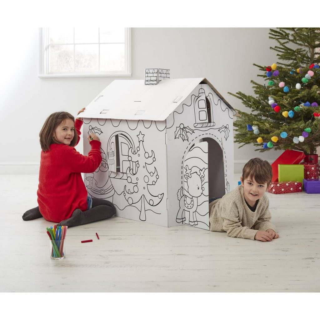 Santa S Grotto Colouring With Colour In Cardboard 94Cm Hobbycraft