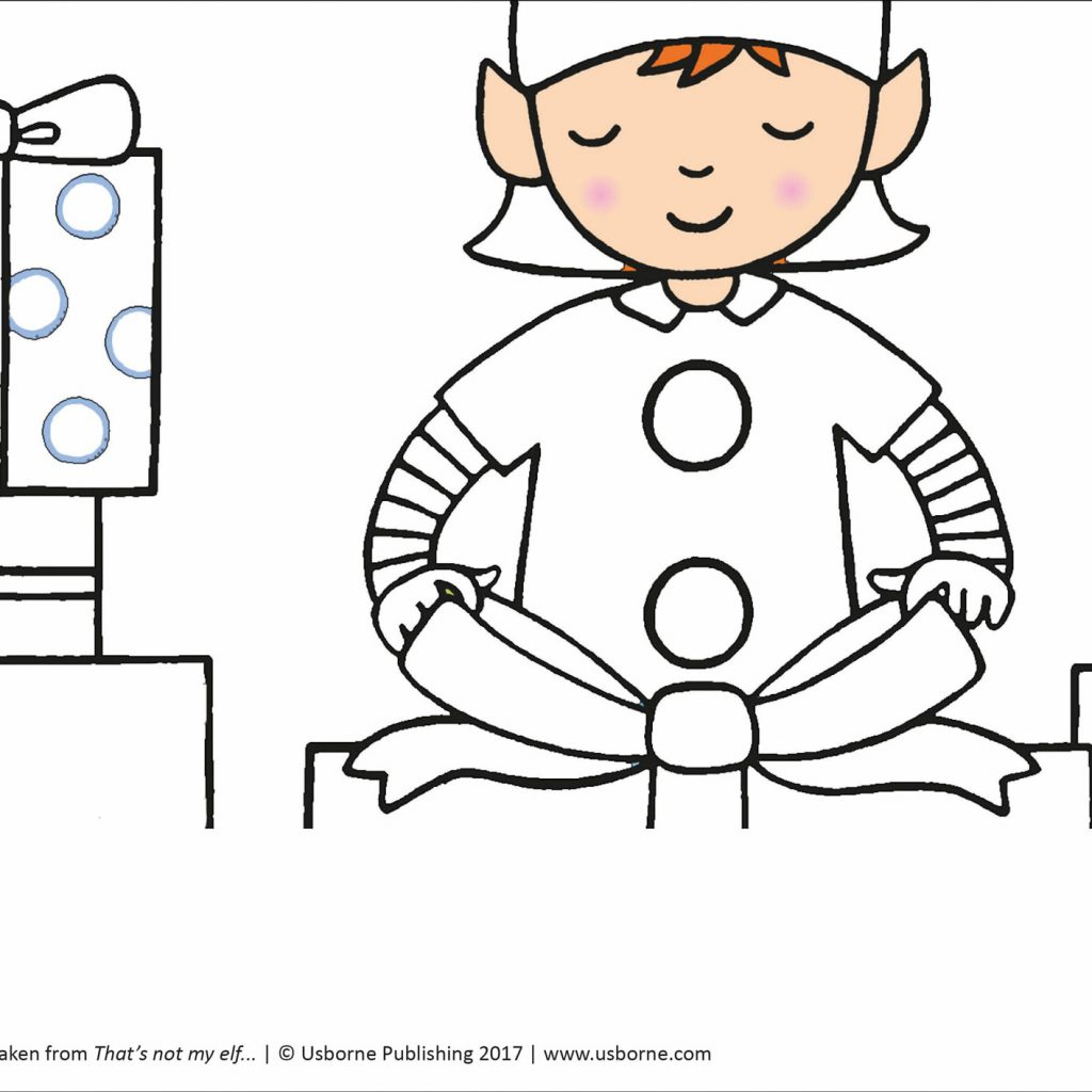 Santa S Grotto Colouring With Doodling And Sheets From Usborne Publishing