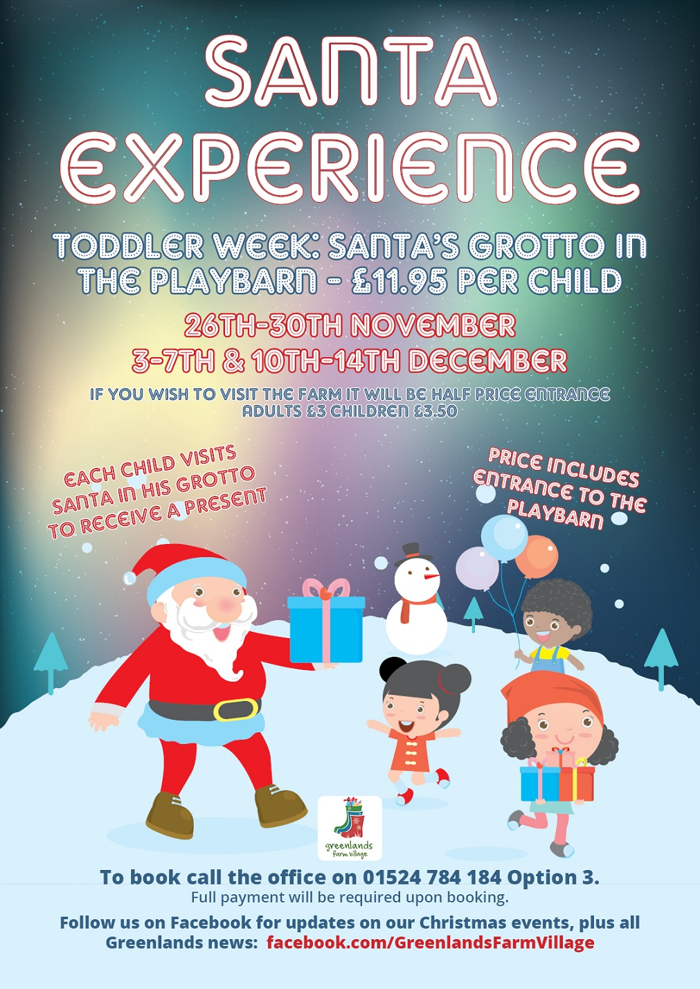 Santa S Grotto Colouring With Greenlands Farm Village A Taste Of The