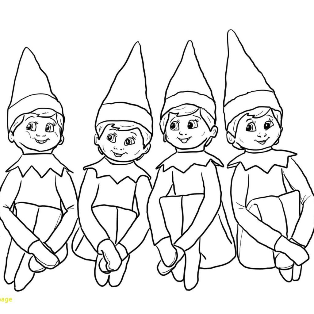 Santa S Helpers Coloring Pages With Christmas Elves Sheets Www Topsimages Com