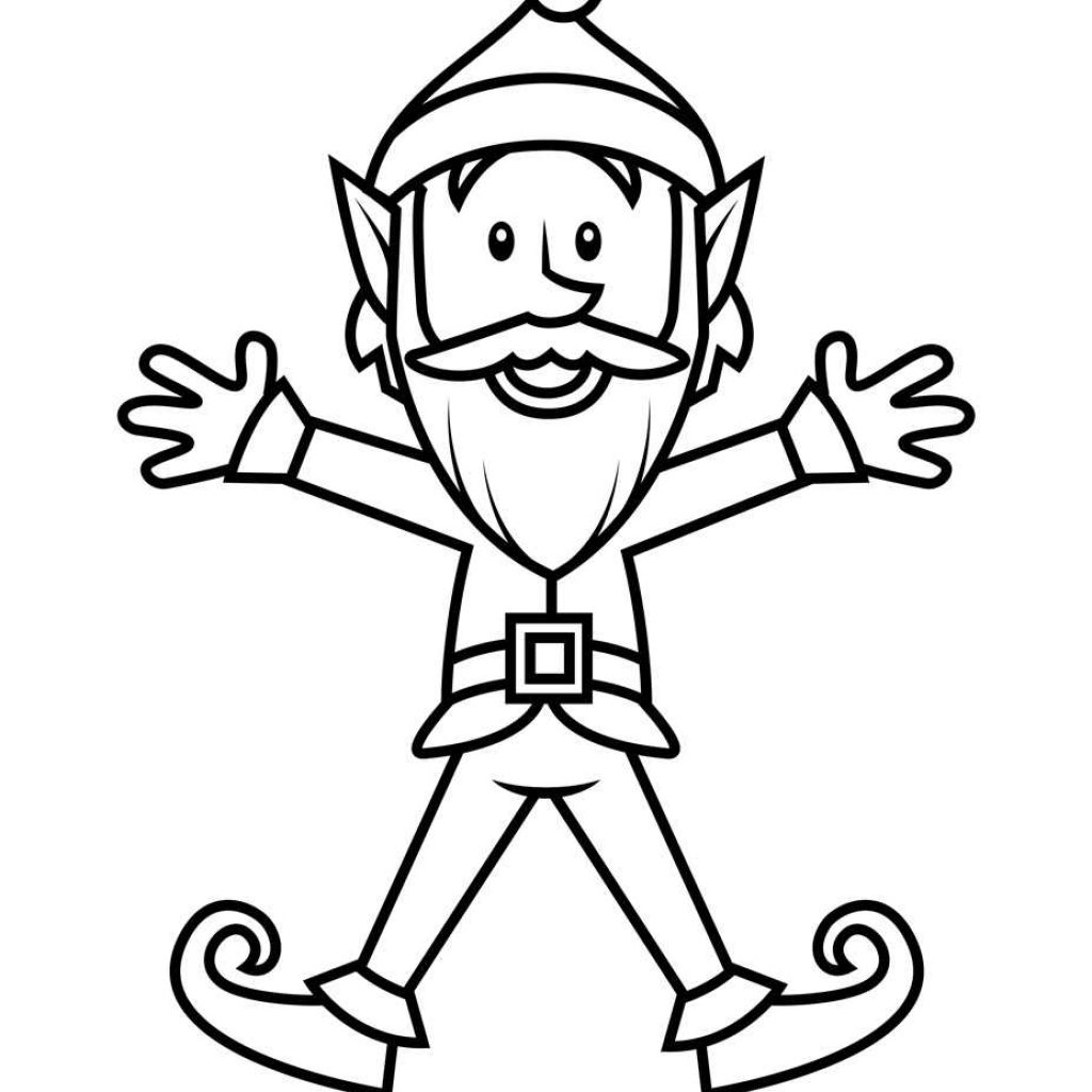 Santa S Helpers Coloring Pages With Collection Of Elf Drawing Download Them And Try To Solve