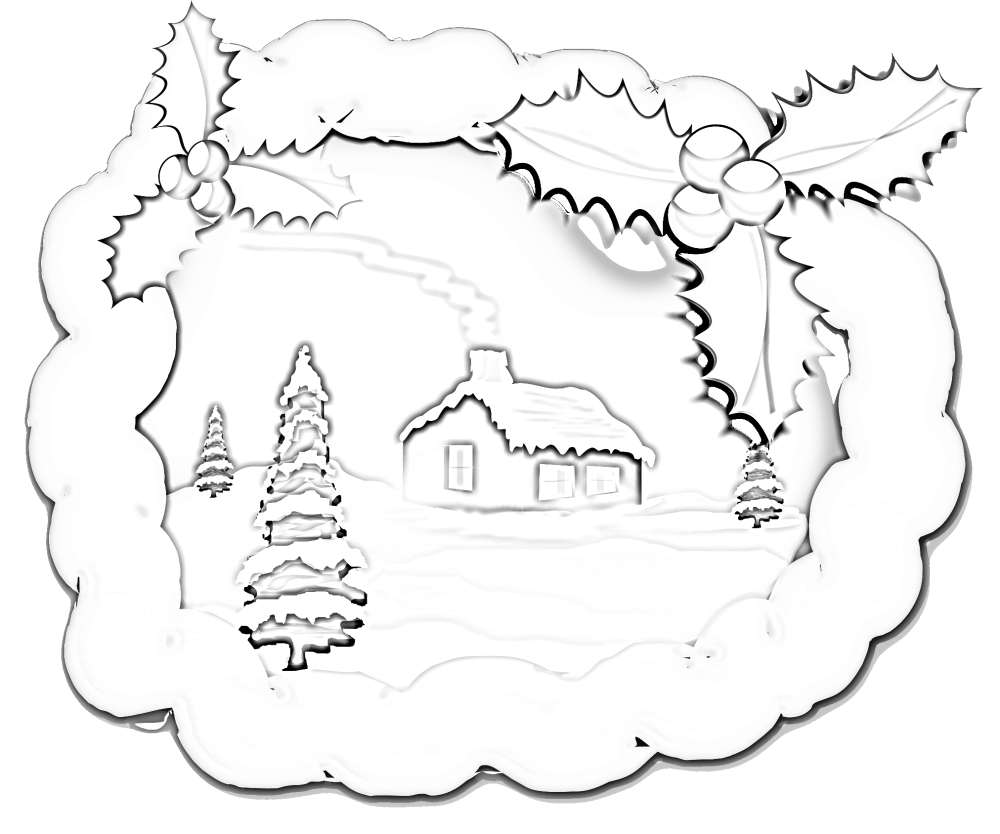 Santa S House Coloring Pages With Christmas