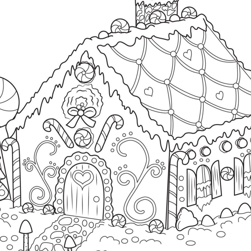 Santa S House Coloring Pages With Christmas New Houses