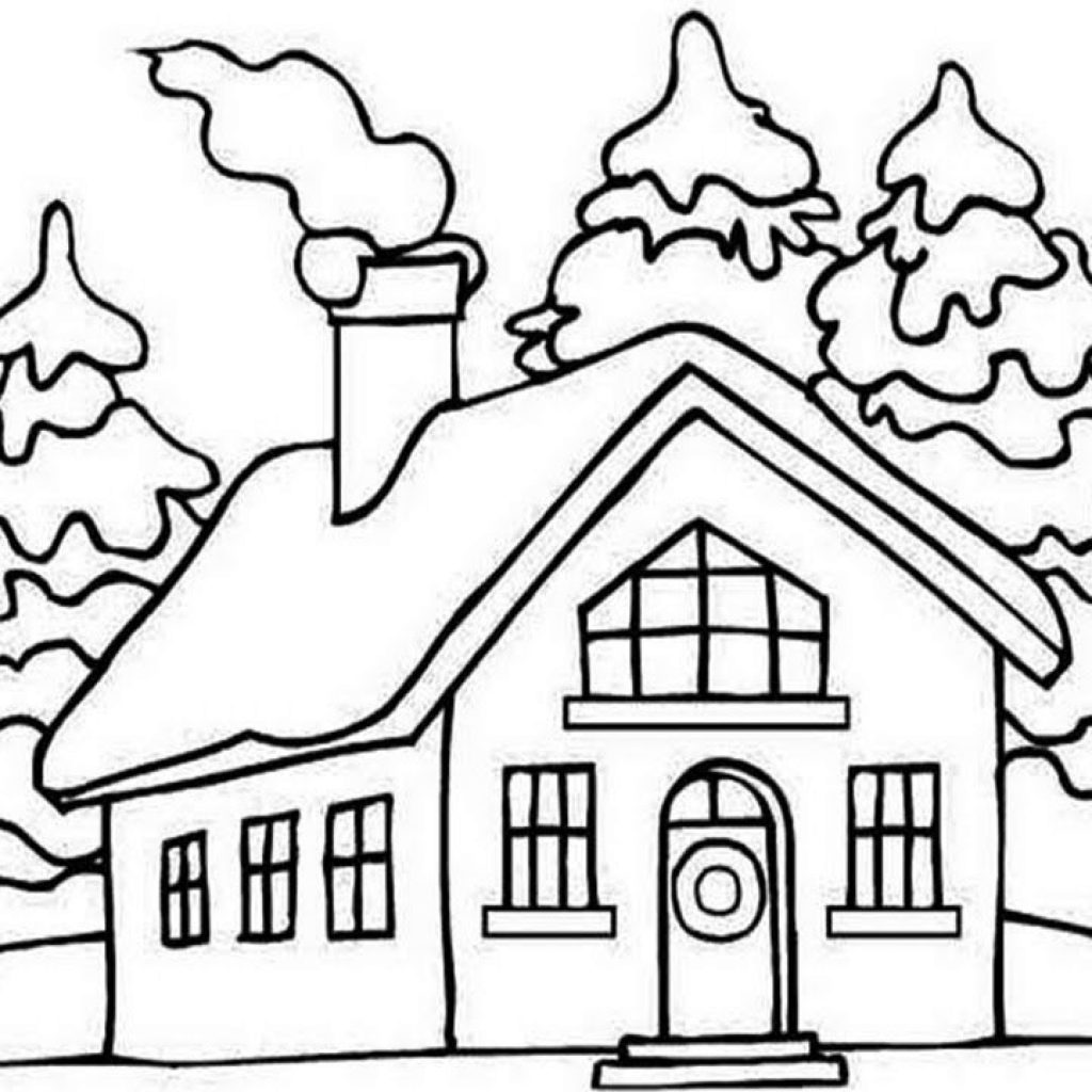 Santa S House Coloring Pages With How To Draw CHRISTMAS Clause HOUSE For Kids