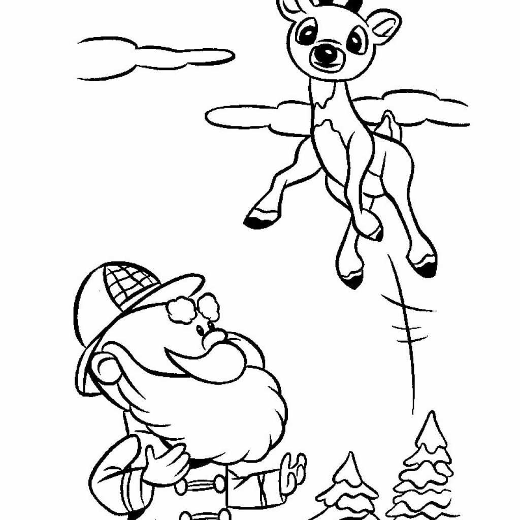 Santa S Reindeer Coloring Pages With And Hellokids Com