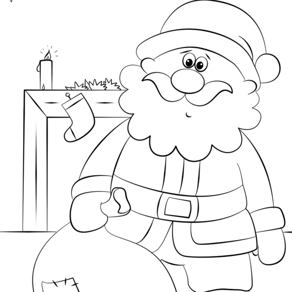 Santa S Sack Coloring Page With Free Printable Pages