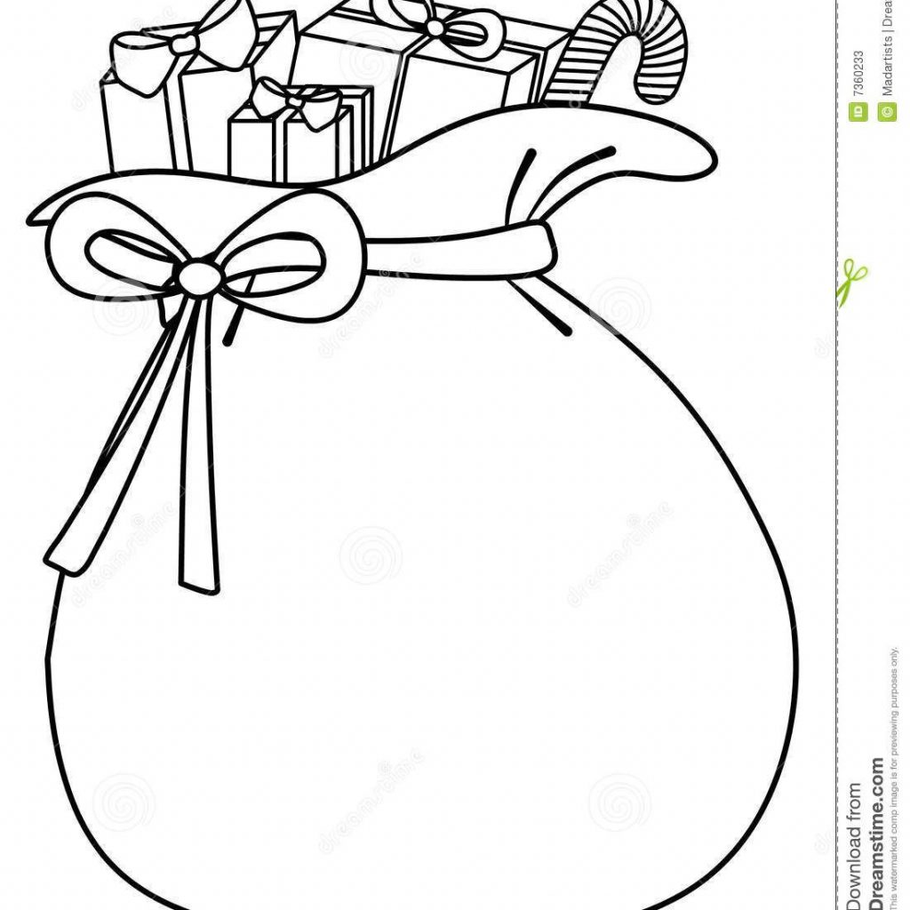 Santa S Sack Coloring Page With Of Toys Background Stock Photos Image 7360233