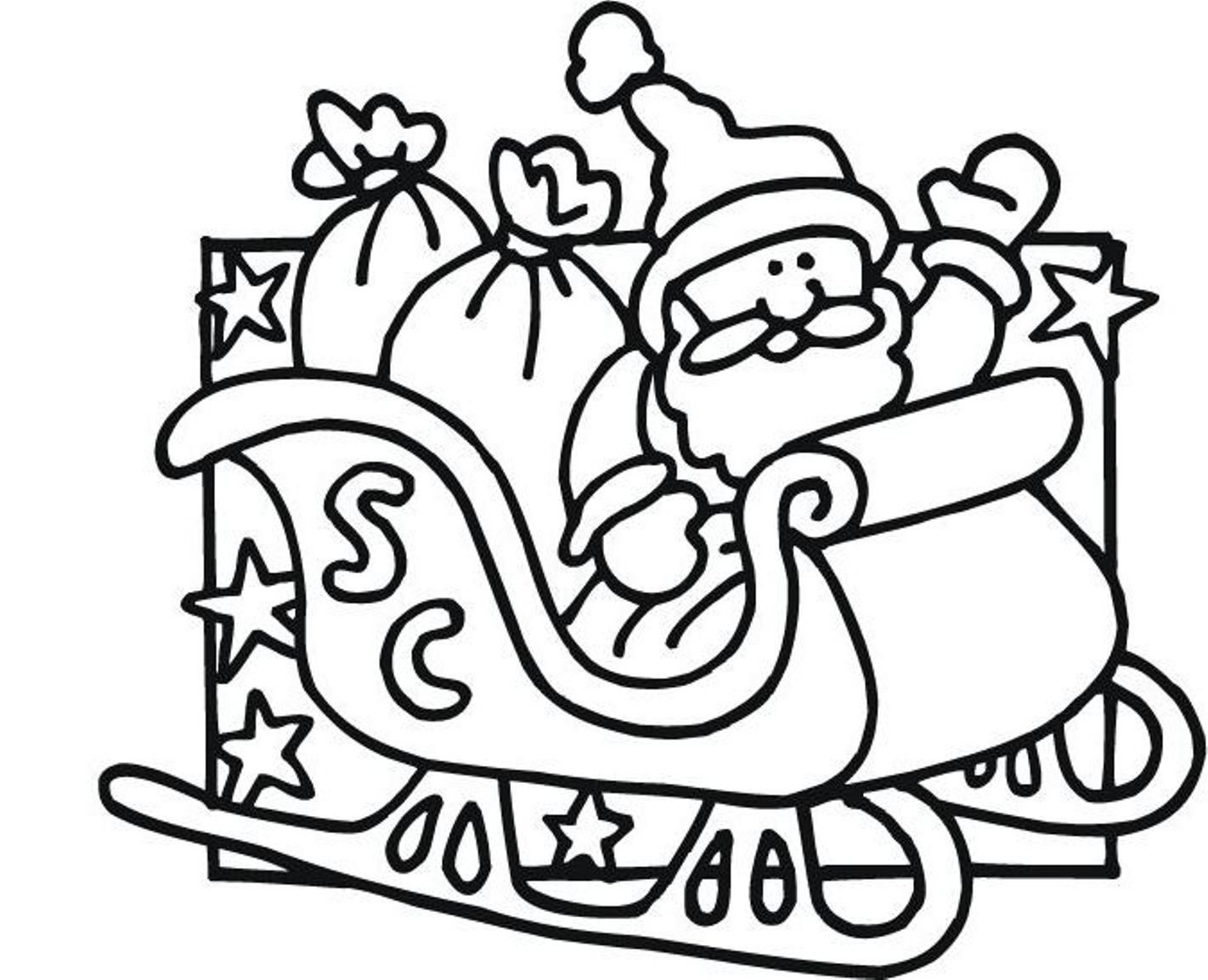 Santa S Slay Coloring Pages With Christmas Claus Erieairfair