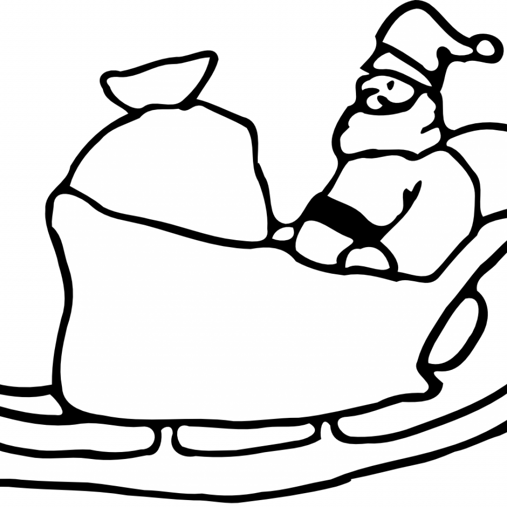 Santa S Slay Coloring Pages With Free And His Sleigh Pictures Download Clip Art