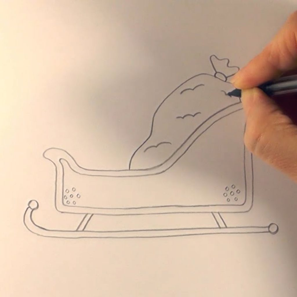 Santa S Slay Coloring Pages With R E A P How To Draw Cartoon Sleigh YouTube