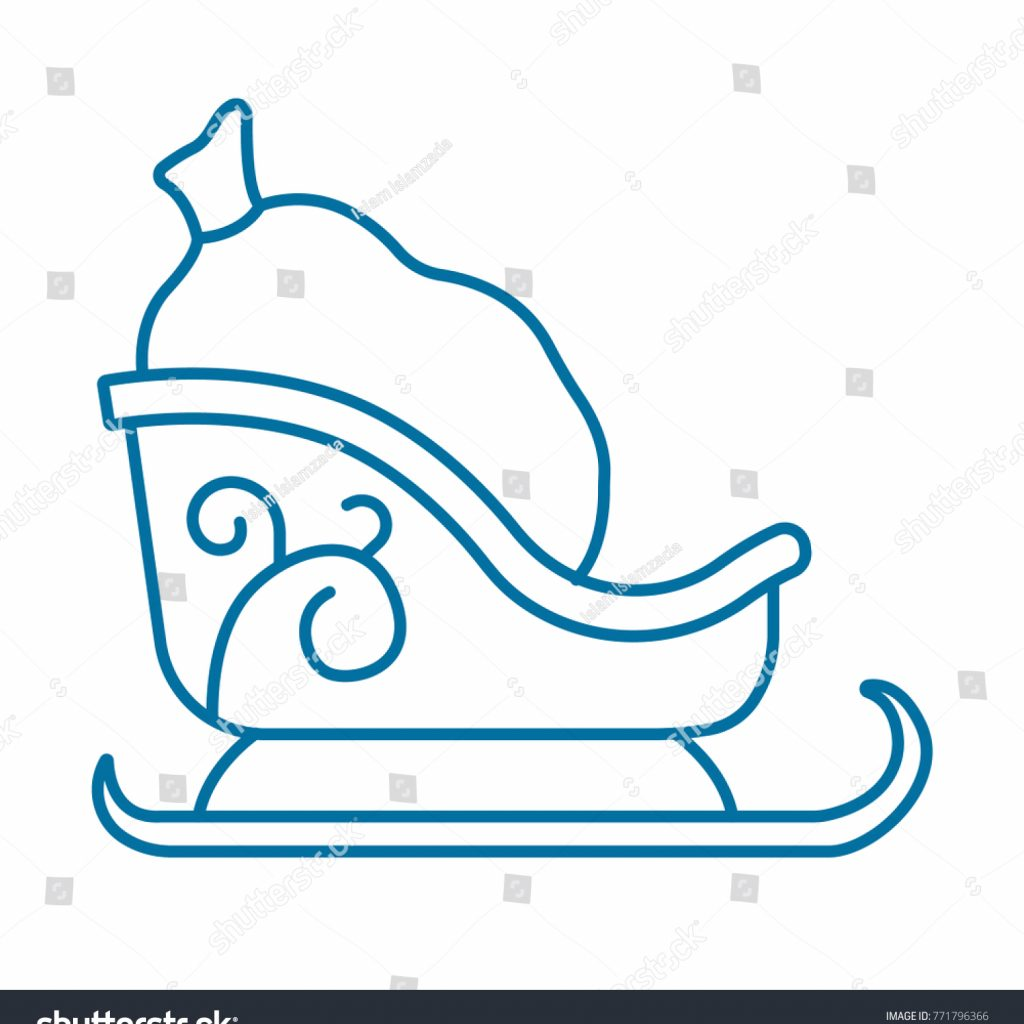 Santa S Slay Coloring Pages With Santas Icon Stock Vector Royalty Free 771796366 Shutterstock