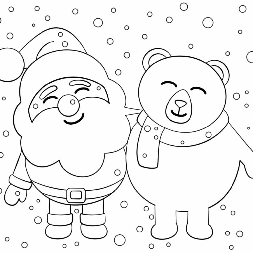 Santa S Stuck Coloring Page With Claus Pages Free
