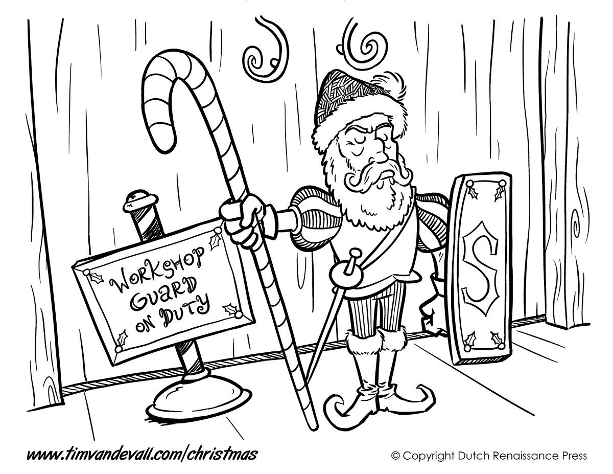 Santa S Workshop Coloring Pages With Christmas Page 04 5 Wordsare Me