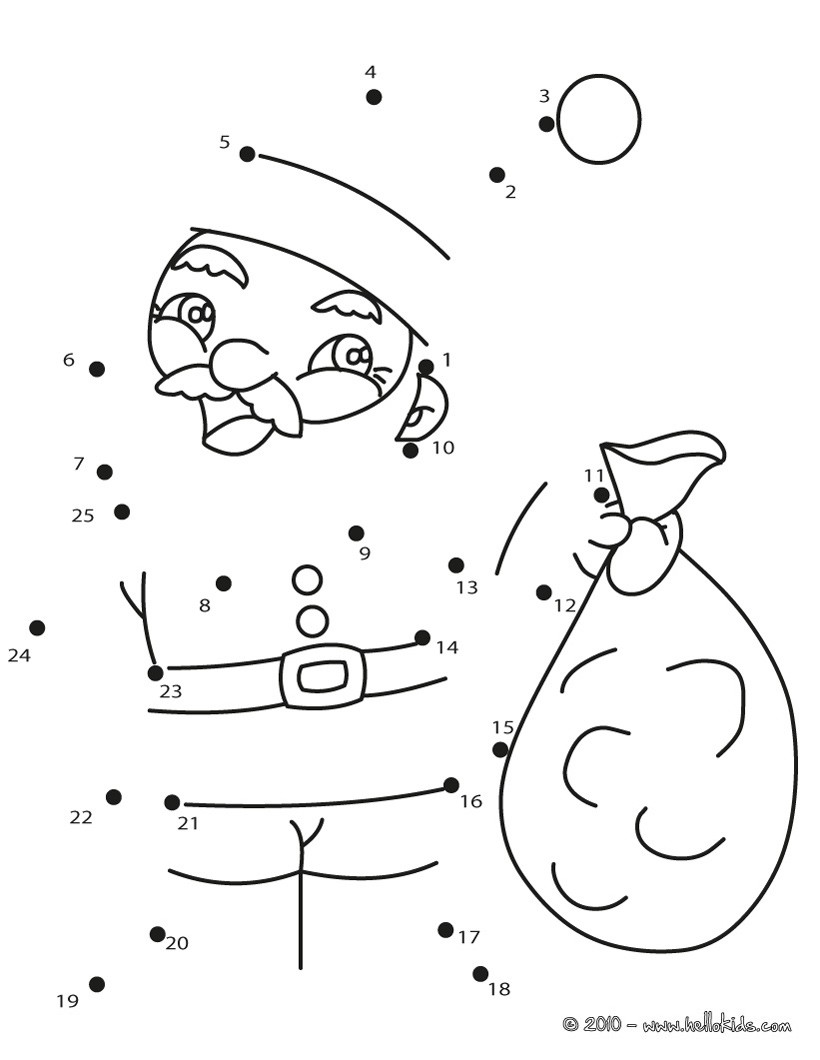 Santa Sack Coloring With Claus Pages Hellokids Com
