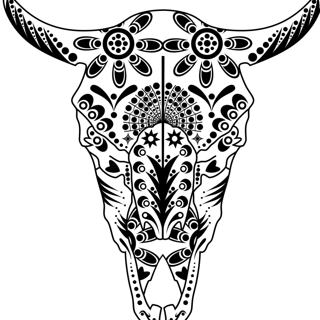 Santa Skull Coloring Pages With Cow Sugar Pitbull Advanced Calavera Printable