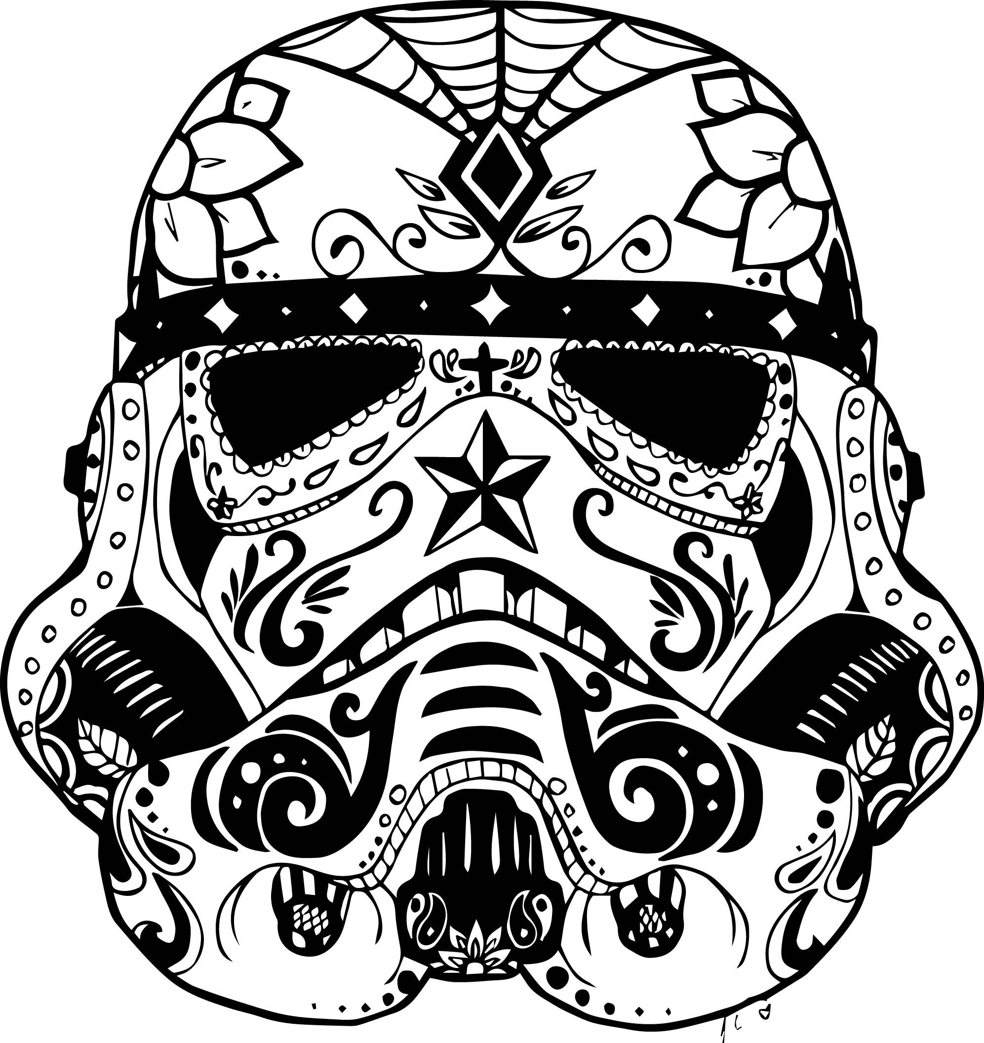 Santa Skull Coloring Pages With Flaming
