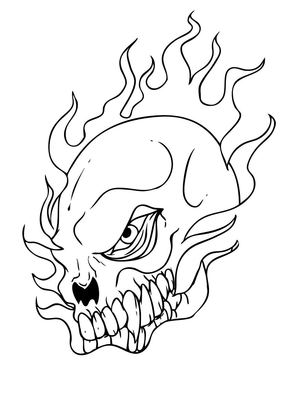 Santa Skull Coloring Pages With Free Printable For Kids