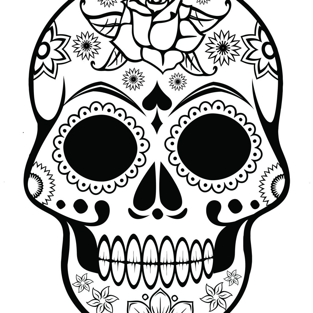 Santa Skull Coloring Pages With Sugar Page AZ Quilt Ideas