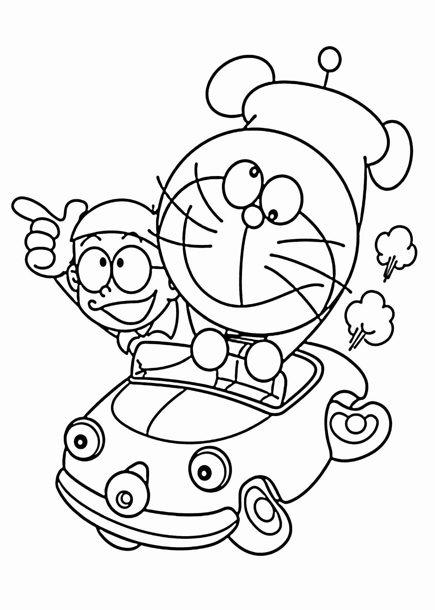 Santa Sled Coloring Page With Christmas Pages Sleigh