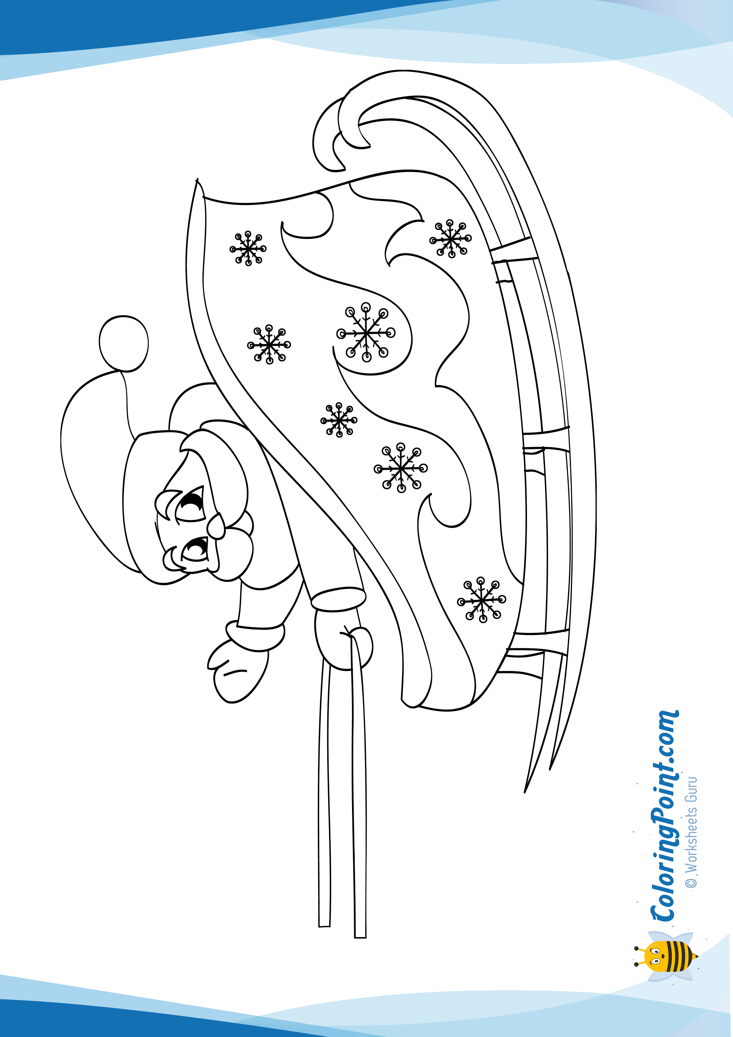 Santa Sled Coloring Page With Claus On His Sleigh There Is A New