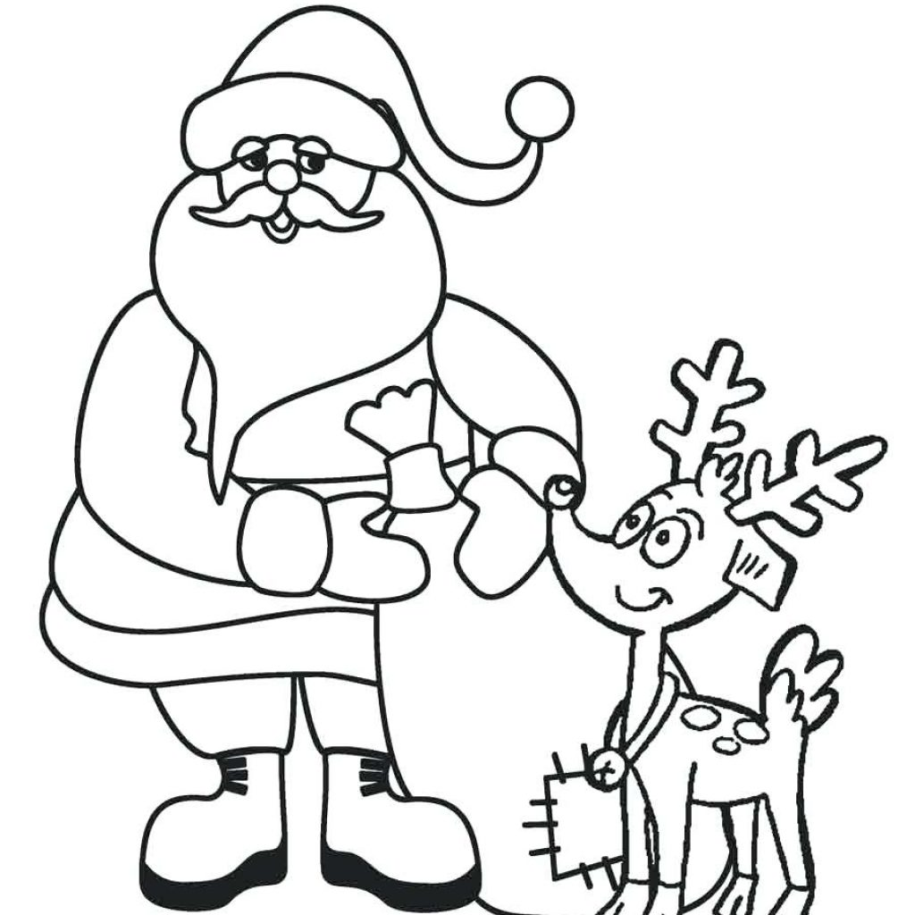 Santa Sled Coloring Page With Drawing At GetDrawings Com Free For Personal Use