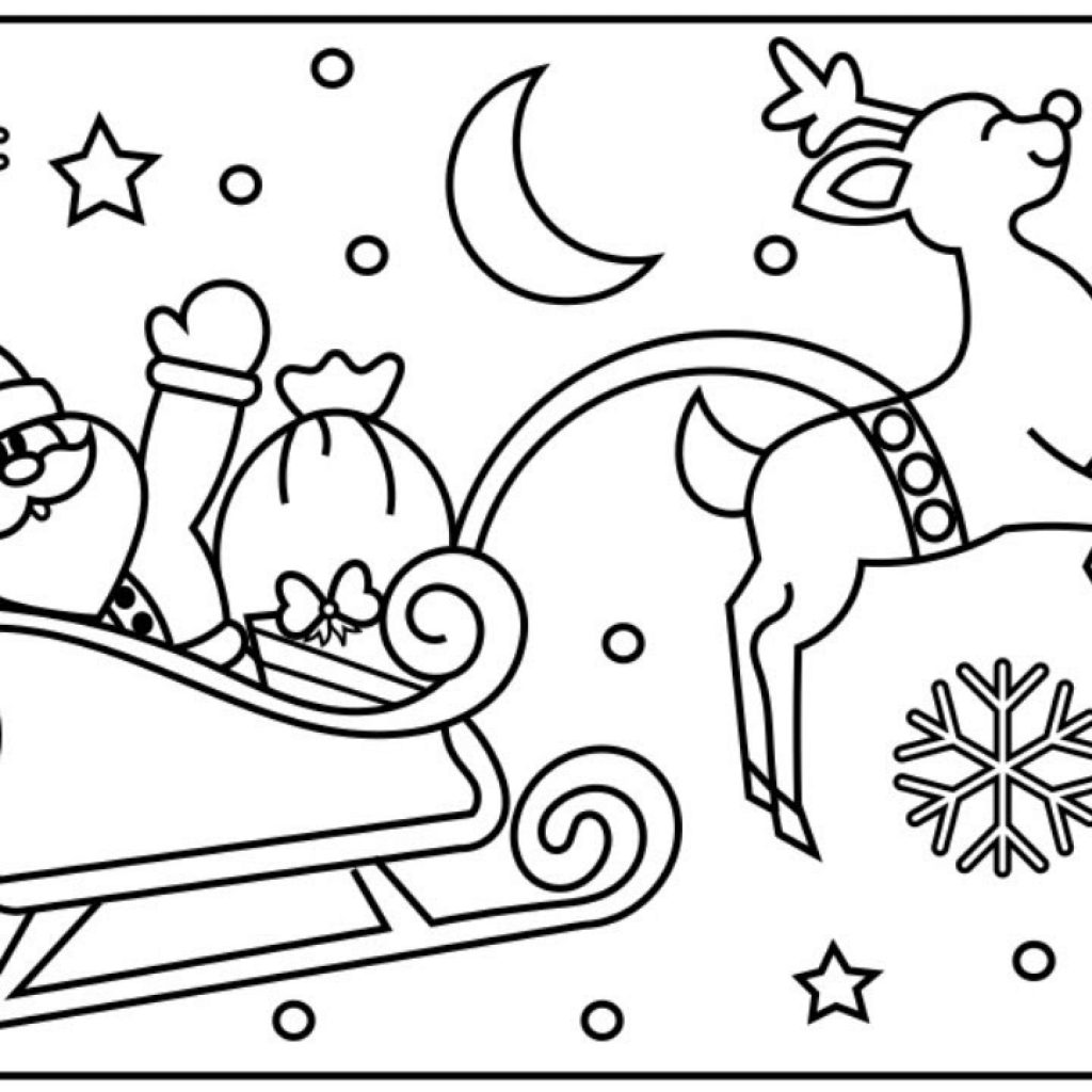 Santa Sled Coloring Page With How To Draw SANTA S SLEIGH Step By For Kids Claus Sleigh