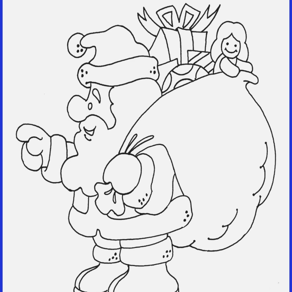 Santa Sleigh Coloring Page With Pages Claus His