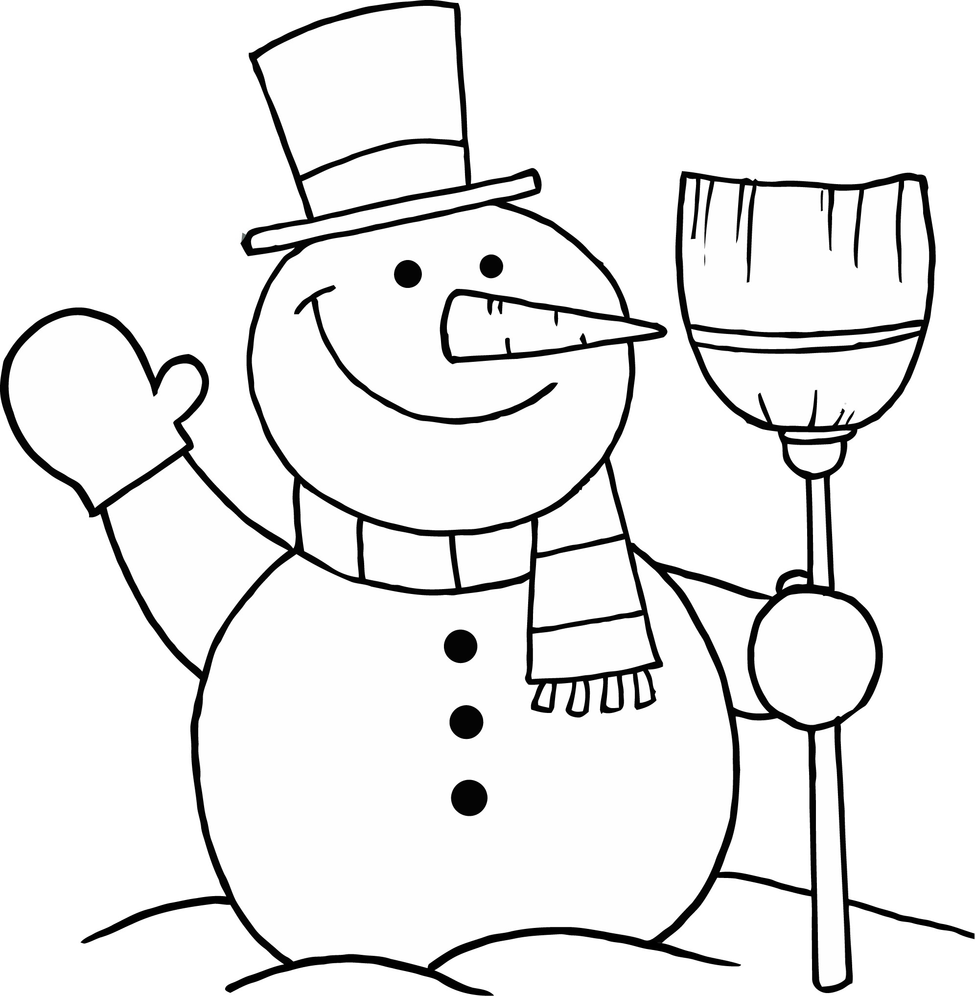 Santa Snowman Coloring Pages With Cute Christmas Collection Free Books