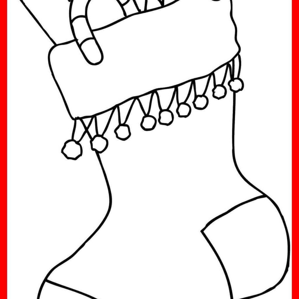 Santa Stocking Coloring Page With Christmas Stockings Pages To Color Printable Valid