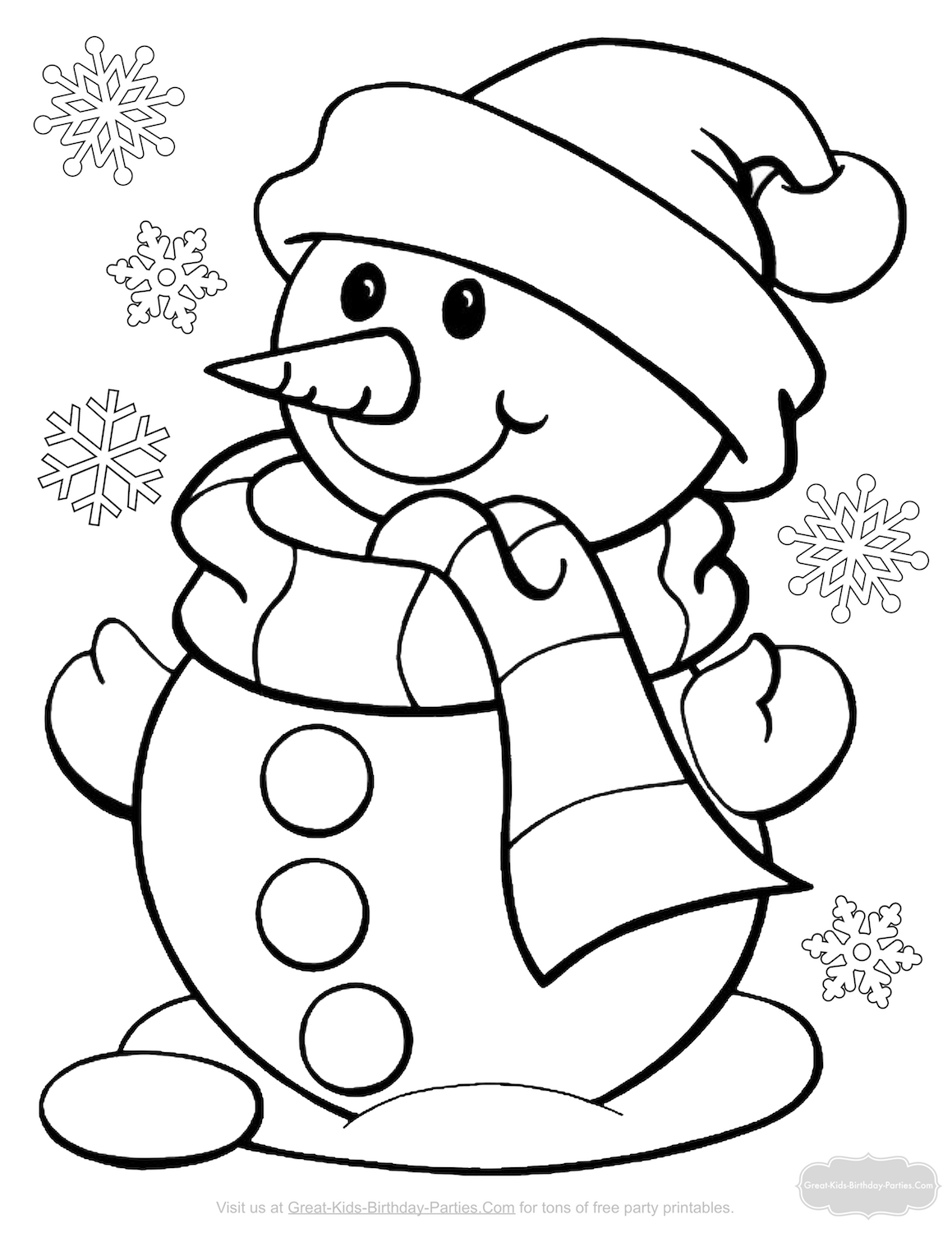 Santa Stop Here Coloring Page With Christmas Pages