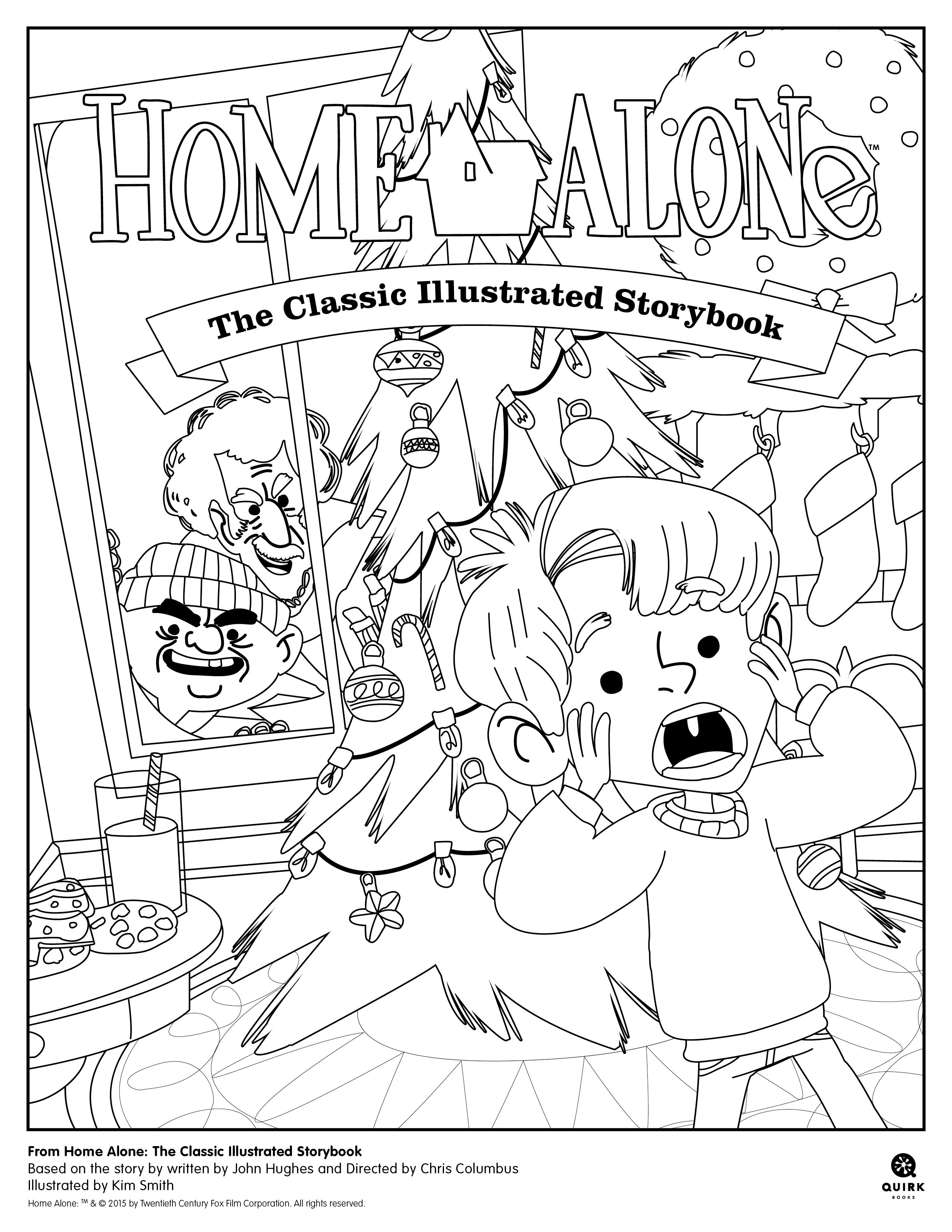 Santa Stop Here Coloring Page With From Home Alone The Classic Illustrated Storybook