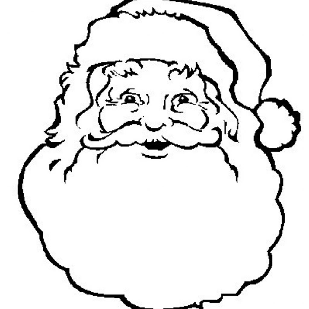 Santa Suit Coloring Page Getcoloringpages With Claus Face Pages For Kids Industri Info